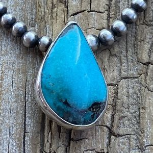 Navajo Turquoise & Sterling Silver Pendant